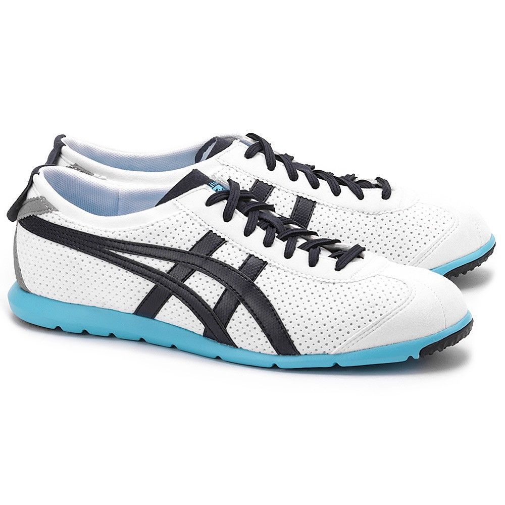 adc160e1b895 ASICS Onitsuka Tiger Rio Runners Sneakers Light Weight Shoes Casual White  Navy