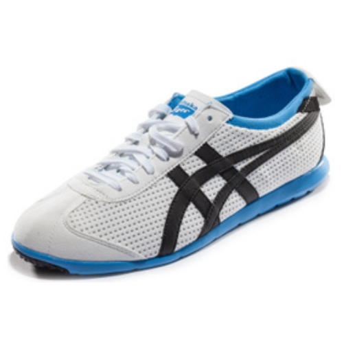 86317501f2f9 ASICS Onitsuka Tiger Rio Runners Sneakers Light Weight Shoes Casual White  Blue