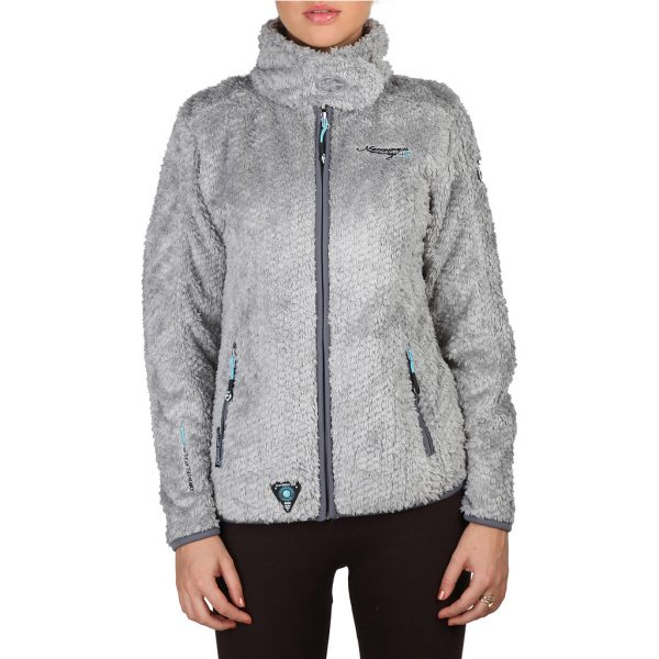 Geographical Norway Zipped Light Grey Sweatshirt Picture3: