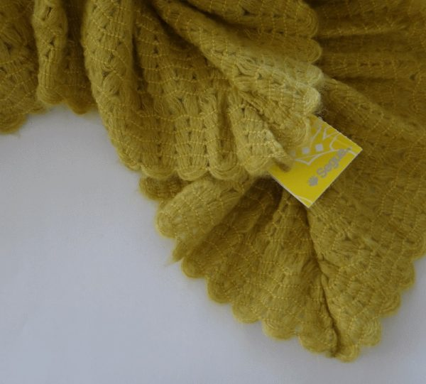 Segue Italian Made Women's Mustard Scarf Picture3: