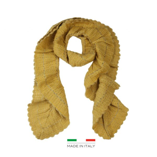 Segue Italian Made Women's Mustard Scarf Picture2: