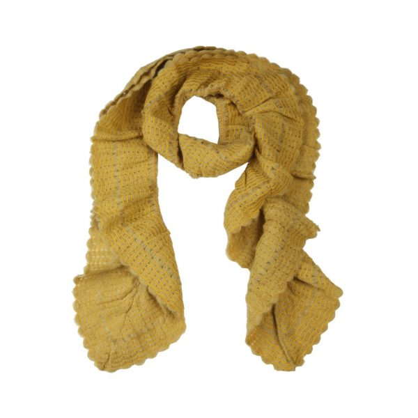 Segue Italian Made Women's Mustard Scarf Picture4:
