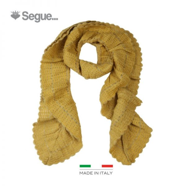 Segue Italian Made Women's Mustard Scarf Picture1: