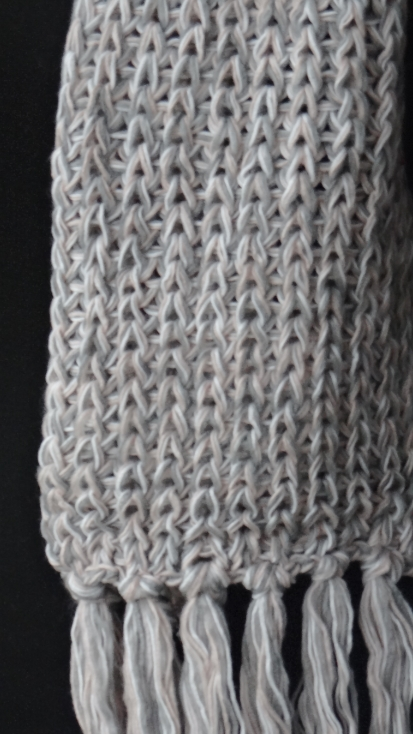 Segue Women's Knitted Light Grey /Powder Scarf Picture3: