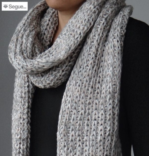 Segue Women's Knitted Light Grey /Powder Scarf Picture2: