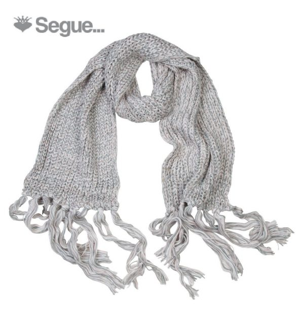 Segue Women's Knitted Light Grey /Powder Scarf Picture1: