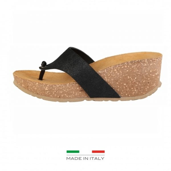 Ana Lublin Women's Black Toe-Pole Wedges Picture1: