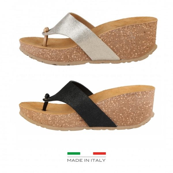 Ana Lublin Women's Black Toe-Pole Wedges Picture6: