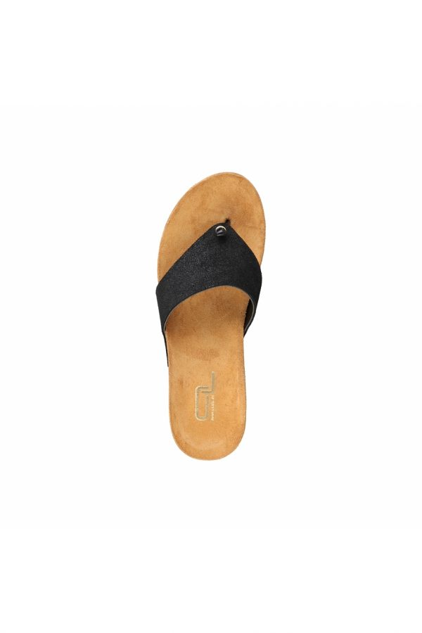 Ana Lublin Women's Black Toe-Pole Wedges Picture4: