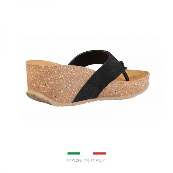 Ana Lublin Women's Black Toe-Pole Wedges Picture3: