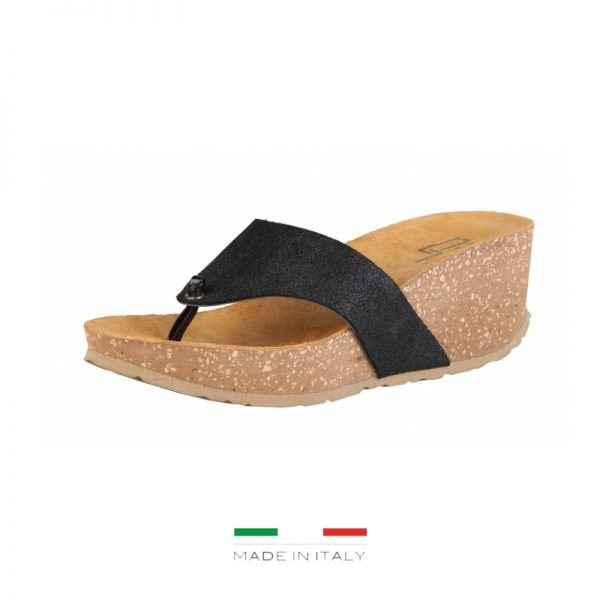Ana Lublin Women's Black Toe-Pole Wedges Picture2: