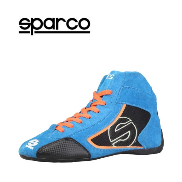 Sparco Yas-Mid Men's Blue Suede Racing Shoes Picture1:
