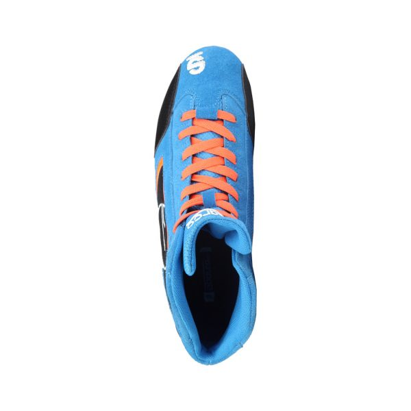 Sparco Yas-Mid Men's Blue Suede Racing Shoes Picture3: