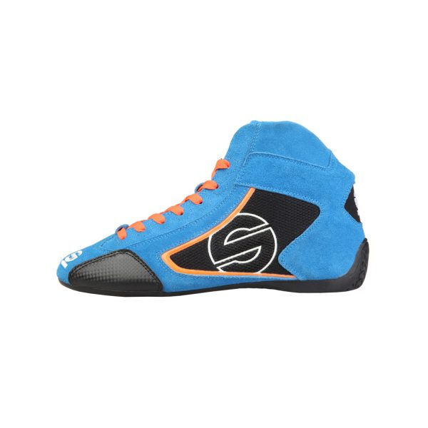 Sparco Yas-Mid Men's Blue Suede Racing Shoes Picture4: