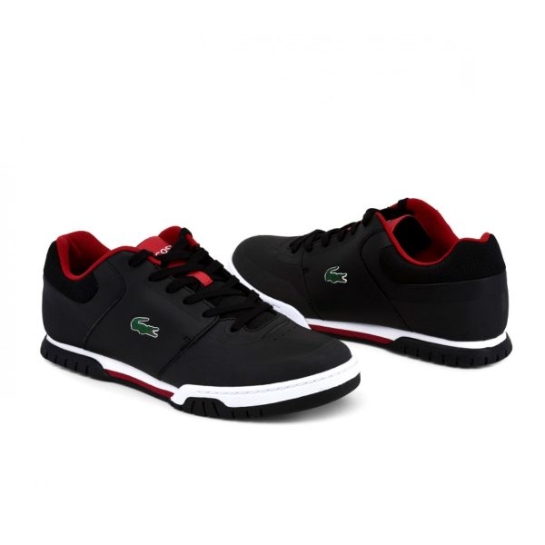 Lacoste Indiana Evo Men's Black and Red Sneakers Picture2: