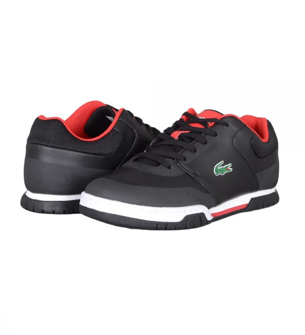 Lacoste Indiana Evo Men's Black and Red Sneakers Picture3:
