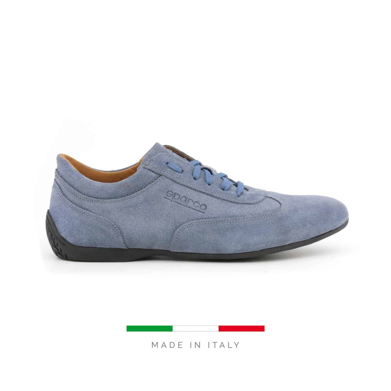 Sparco Men's Imola GP CAM Blue Suede Shoes