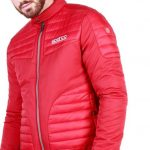 Sparco Bloomington Red Jacket Picture6: Sparco Bloomington Jacket marked with Sparco logo; it comes in contrasting zip, 2 external pockets with snap button, ribbed waist and cuffs. Brilliant for casual outings and perfect companion as you go about your busy life or during sports and racing events.